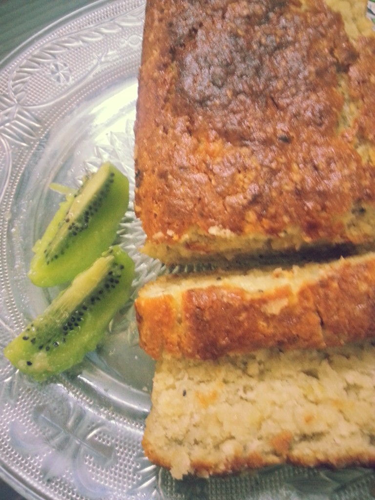 Gluten Free and Eggless Kiwi and Coconut Cake