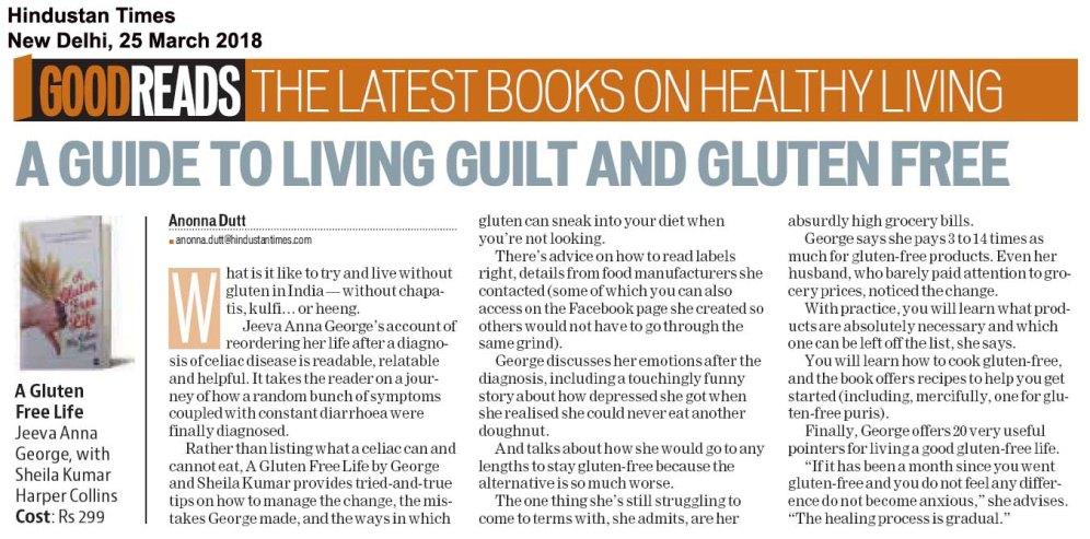A Gluten Free Life, Hindustan Times, New Delhi, Mar2518